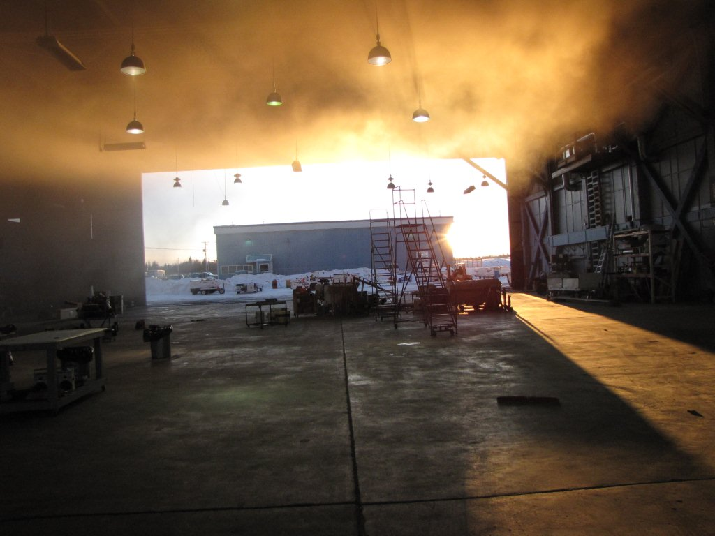 NT Air Fire at Prince George Airport