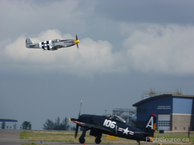 Impatient Virgin P-51B Mustang, Wampus Cat, Grumman F8F Bearcat