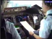747 takeoff cockpit view