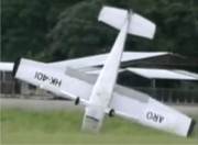 Small Plane Flips Over