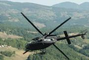 OH-58D banking in Bosnia.